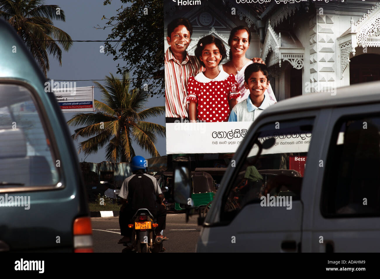 Galle Fort family advertisement Stock Photo