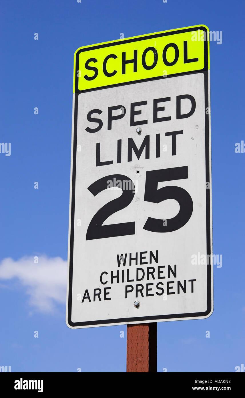 Citaten School Zone : Us school zone speed limit street sign stock photo