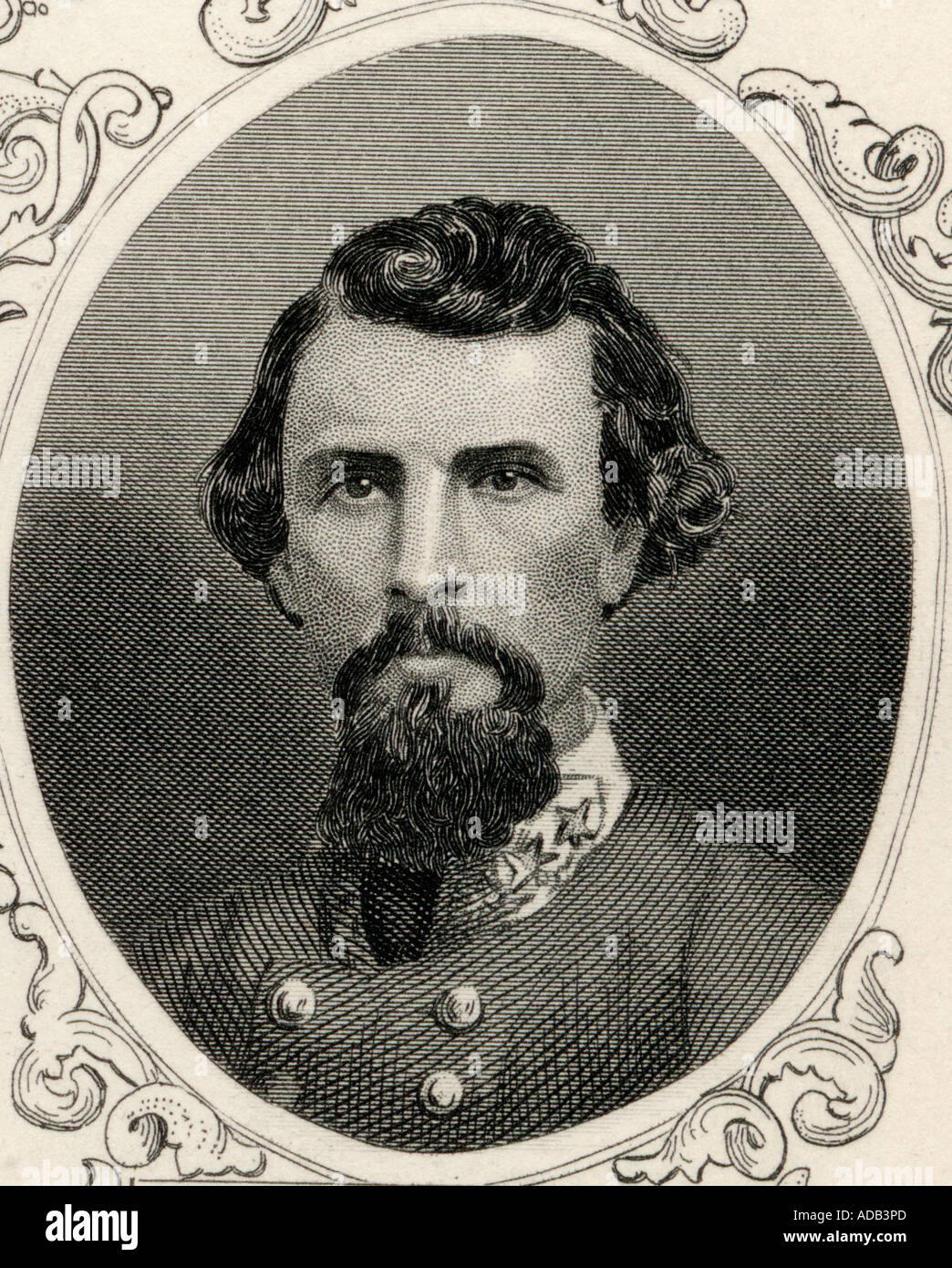 Nathan Bedford Forrest 1821 1877 American General in the Confederate army during the American civil war - Stock Image