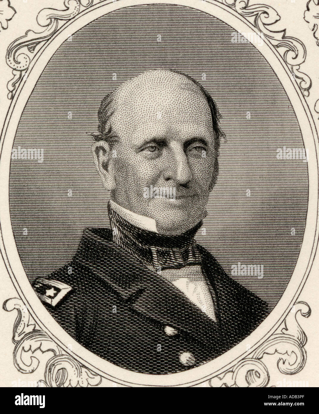 Silas Horton Stringham 1798 1876 Union naval commander during the American Civil War and rear admiral in the United States Navy - Stock Image