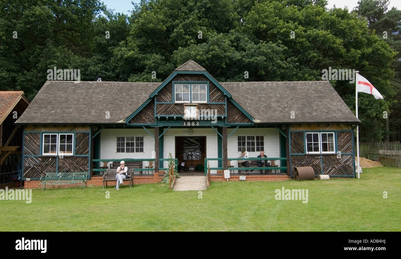 Rural Life Centre - Tilford - Surrey - UK - Cricket Pavilion - Stock Image