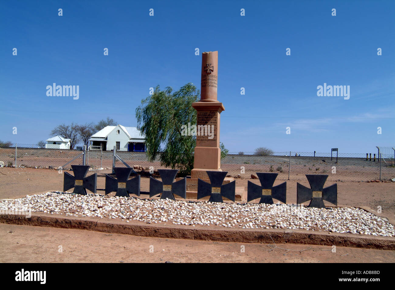 War Graves German Natal Light Horse Gibeon Station Namibia Southern Africa - Stock Image