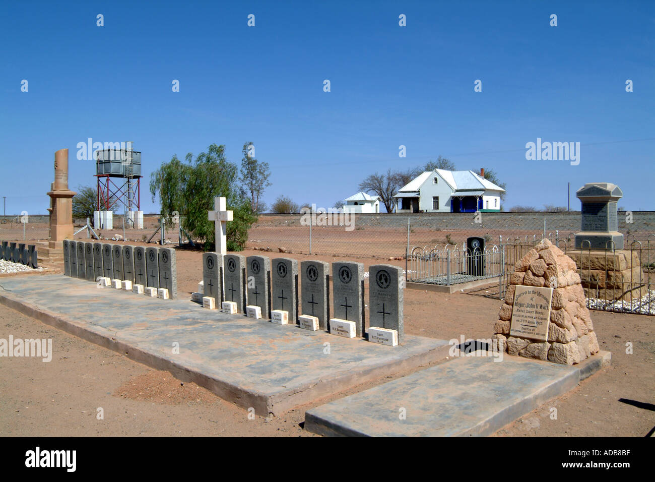 War Graves, German Natal Light Horse, Gibeon, Namibia Southern Africa - Stock Image