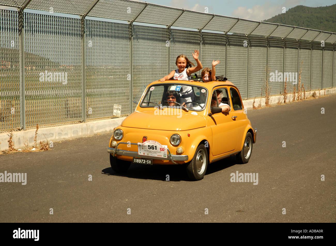 Fiat 500 Rally In Italy Stock Photos Fiat 500 Rally In Italy Stock