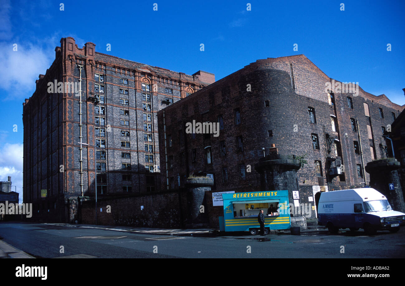 Stanley Dock Tobacco Warehouse 1900 said to be the largest in the world Stock Photo