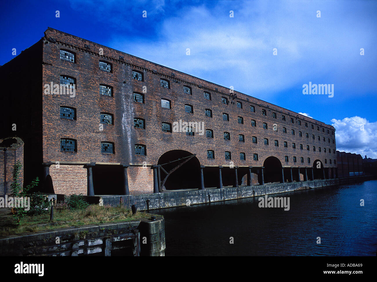 View of Stanley Dock Warehouse Stock Photo