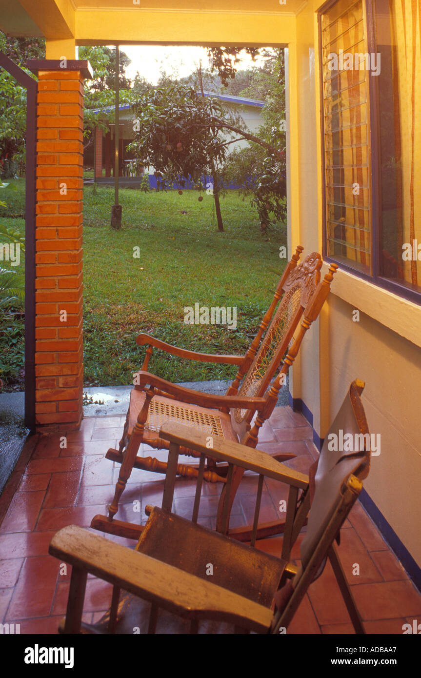 porch and chairs in costa rica stock photo 899751 alamy