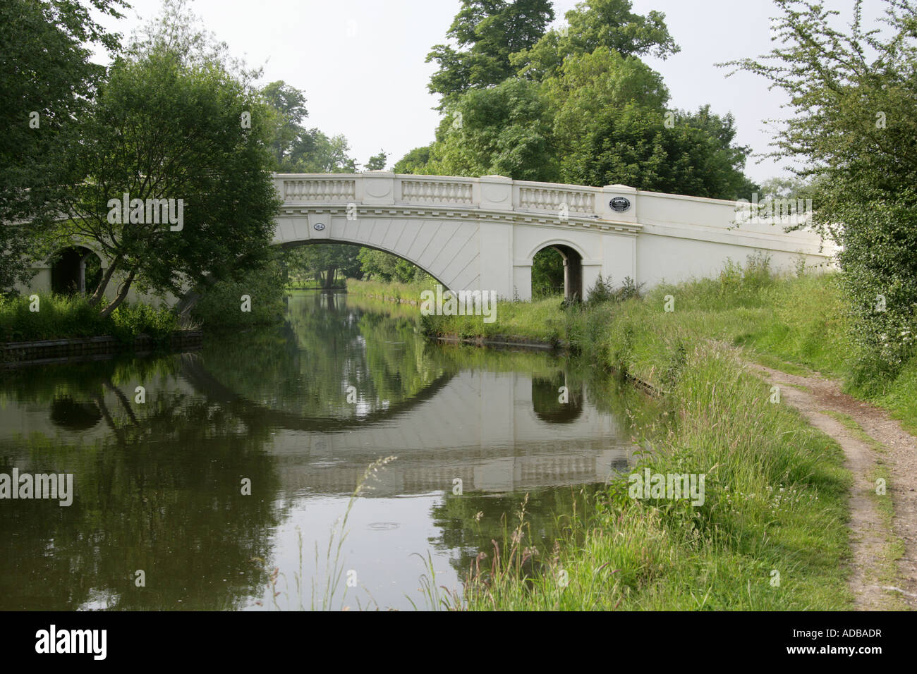 The Grove Bridge No 164 over the Grand Union Canal Watford Herts Stock Photo