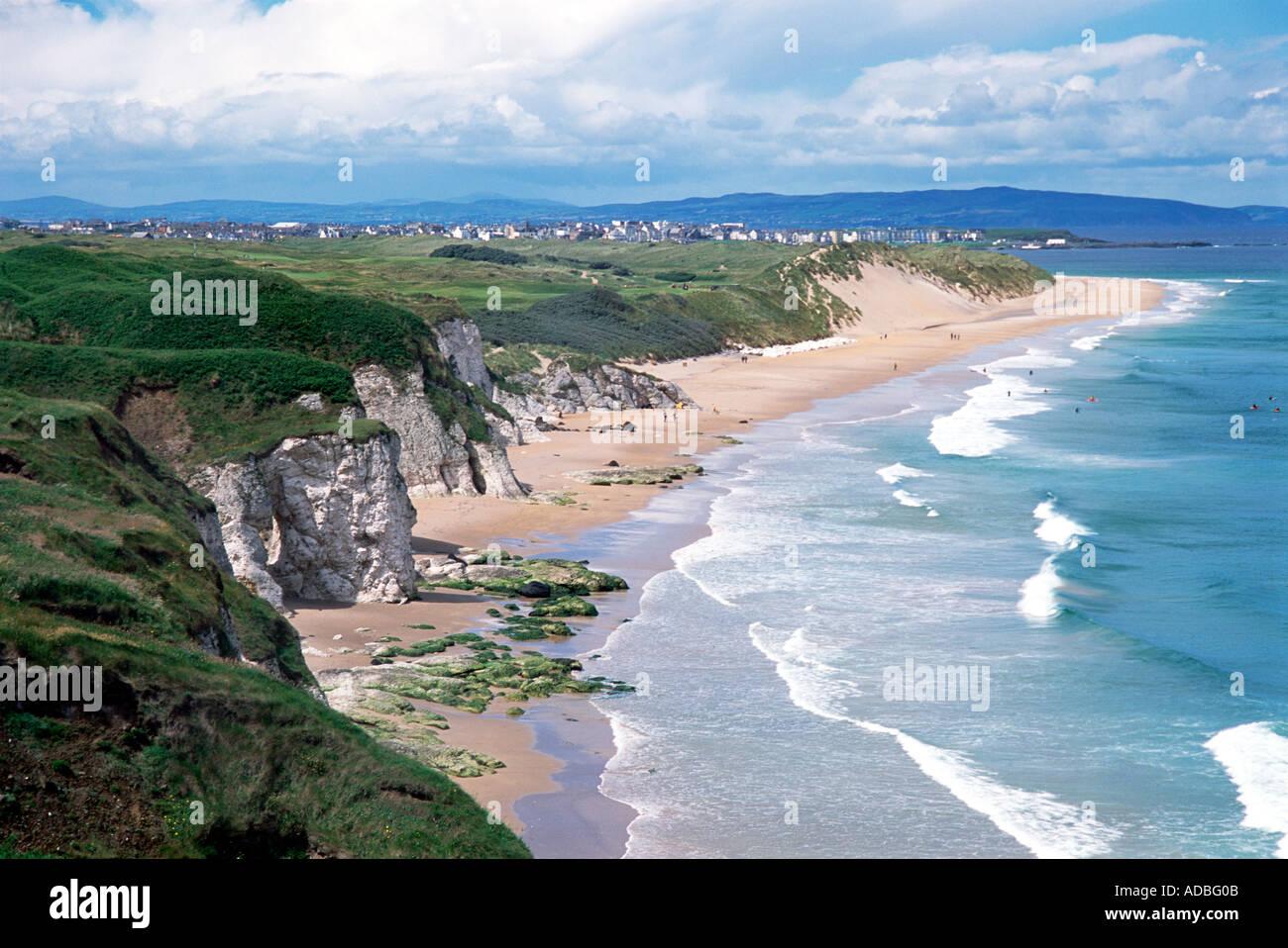 White Rocks, Portrush County Antrim Northern Ireland - Stock Image