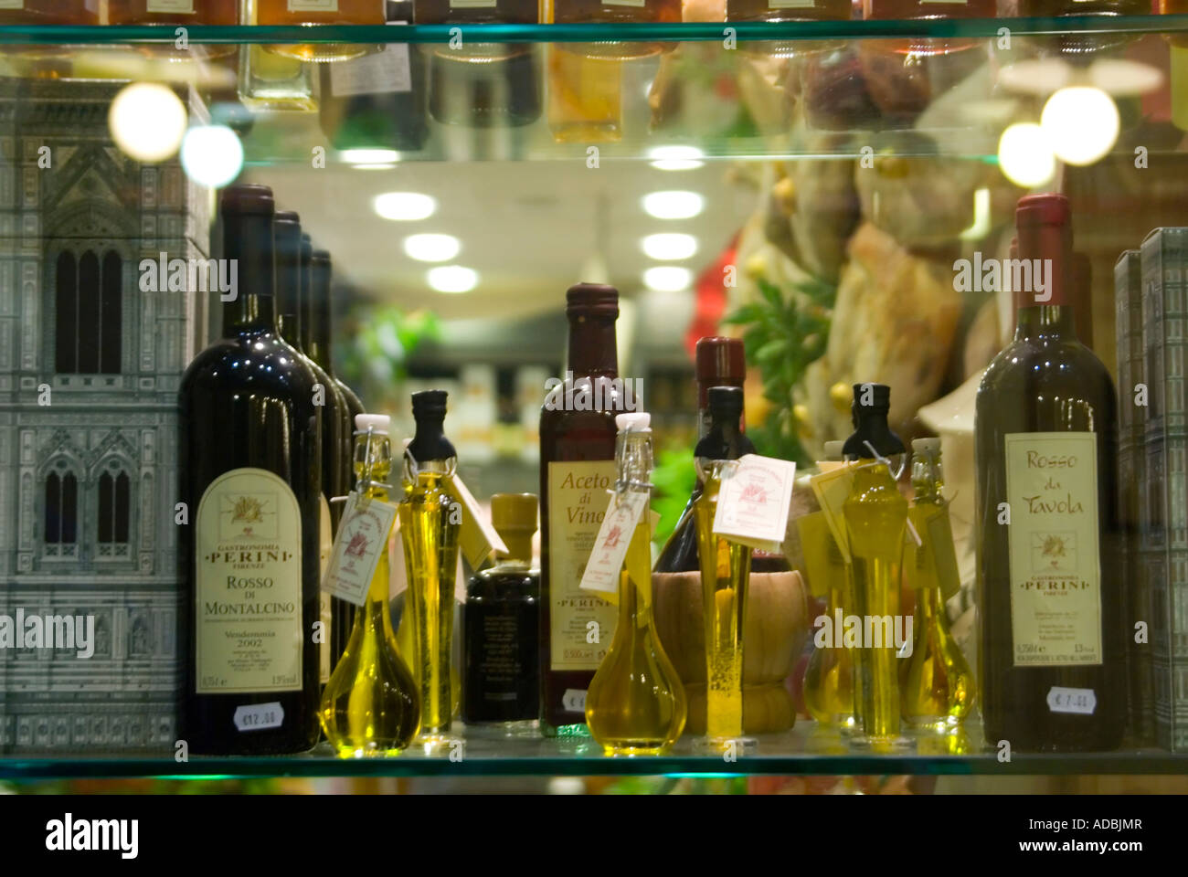 Italy, Florence, Mercato Centrale 'central market', Jan 2007. Horizontal close up of traditional Tuscan - Stock Image