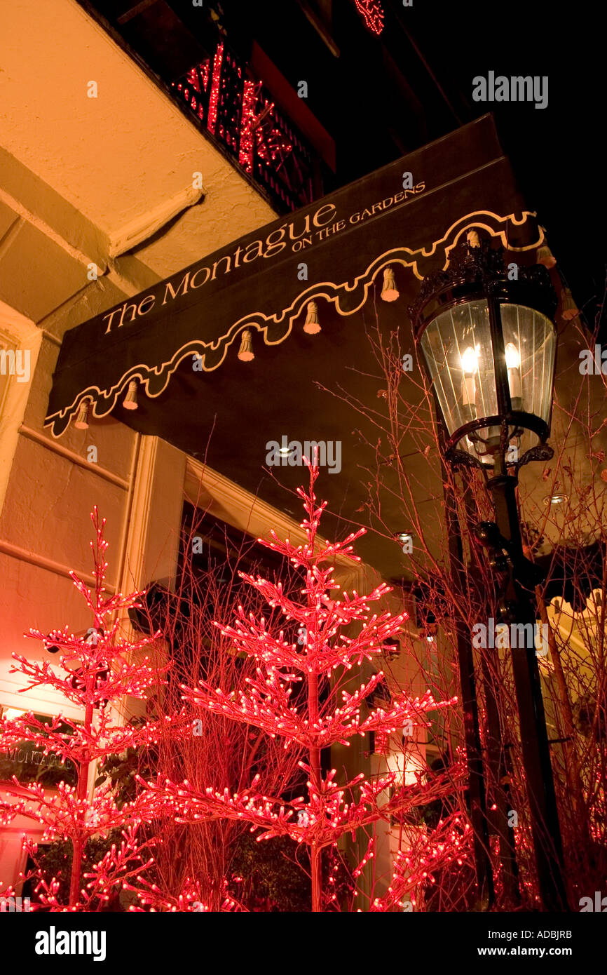 Christmas lights The Montague Hotel Montague Street Bloomsbury ...