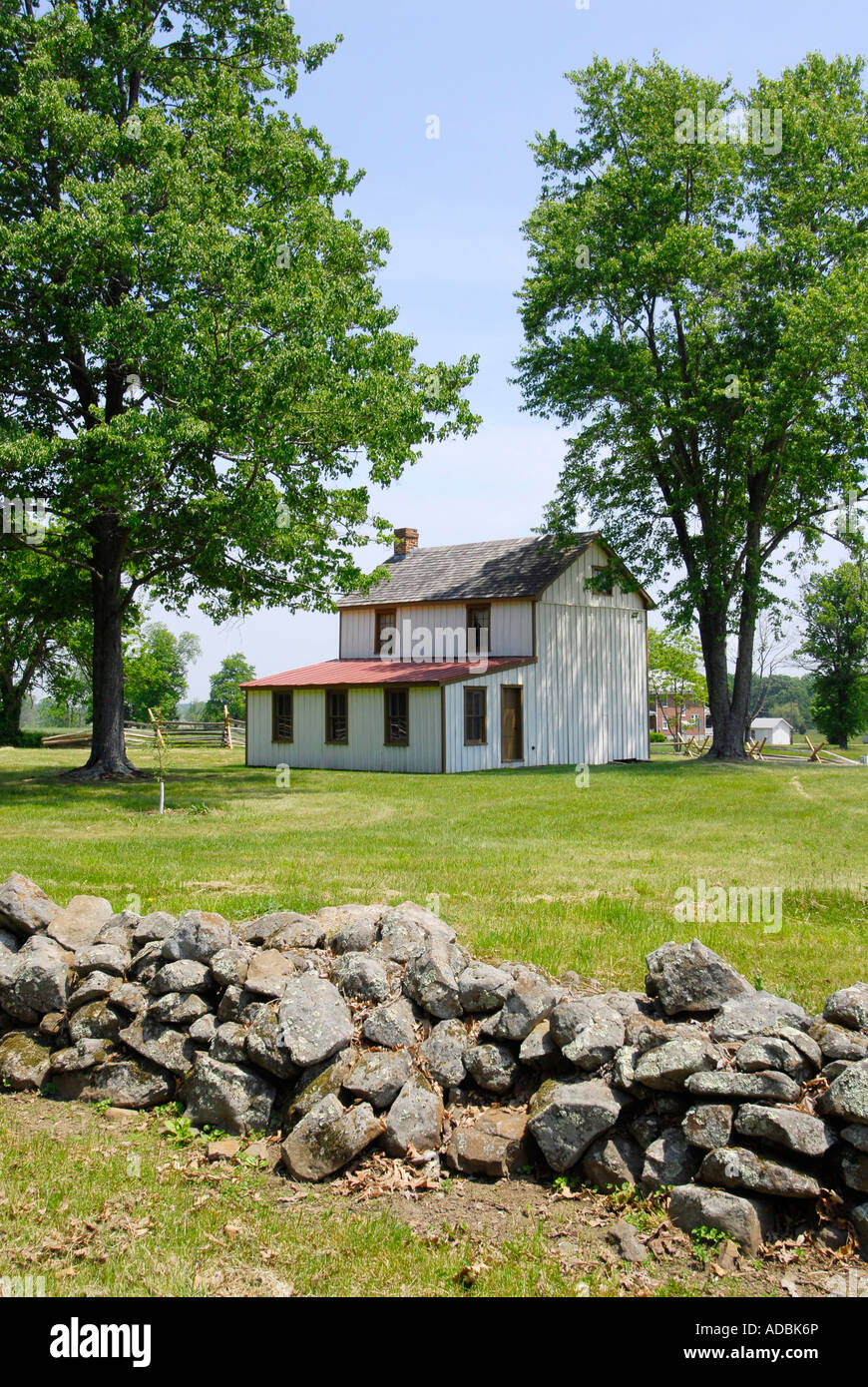 Original house on the Battlefield at the Gettysburg National Battlefield Park and Cemetery Pennsylvania PA - Stock Image