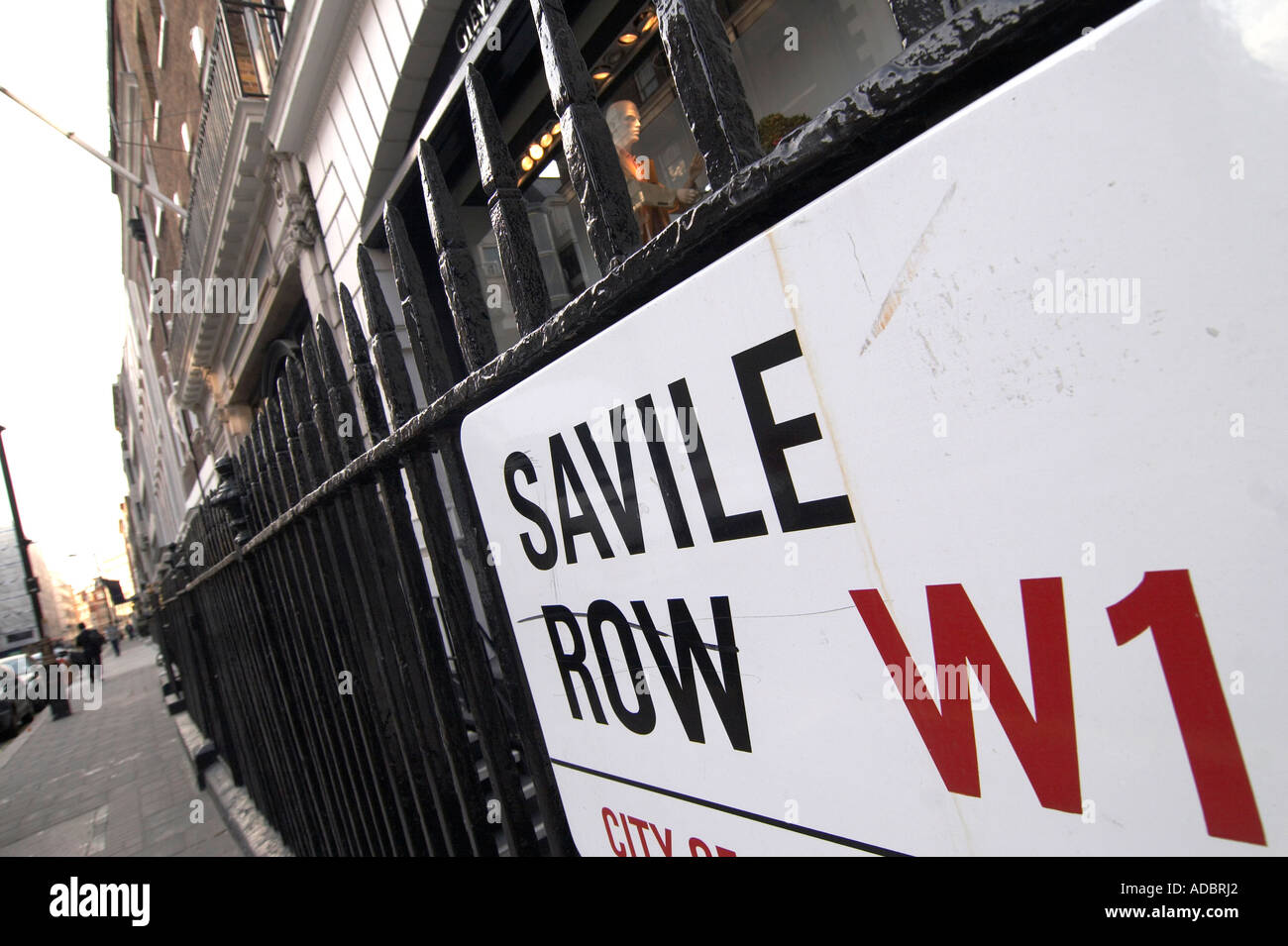 Savile Row in London England - Stock Image