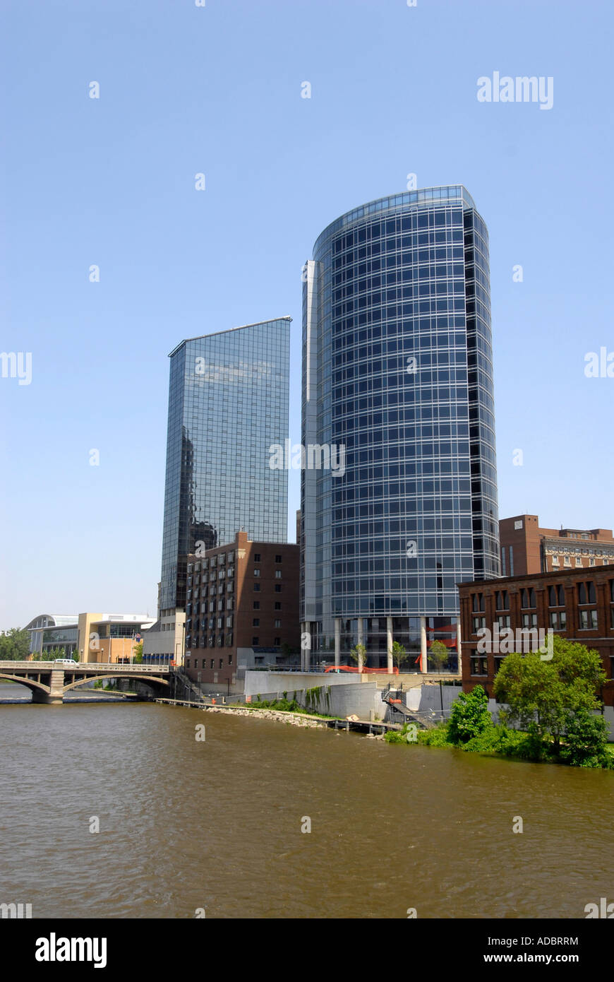 Grand Rapids Hotels >> Skyline Including The Amway Hotel In Downtown Grand Rapids