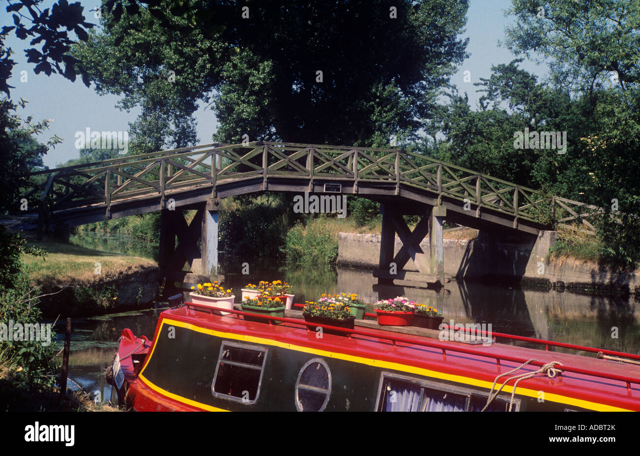 Kelmscot Footbridge over The River Thames, Oxfordshire, UK. - Stock Image