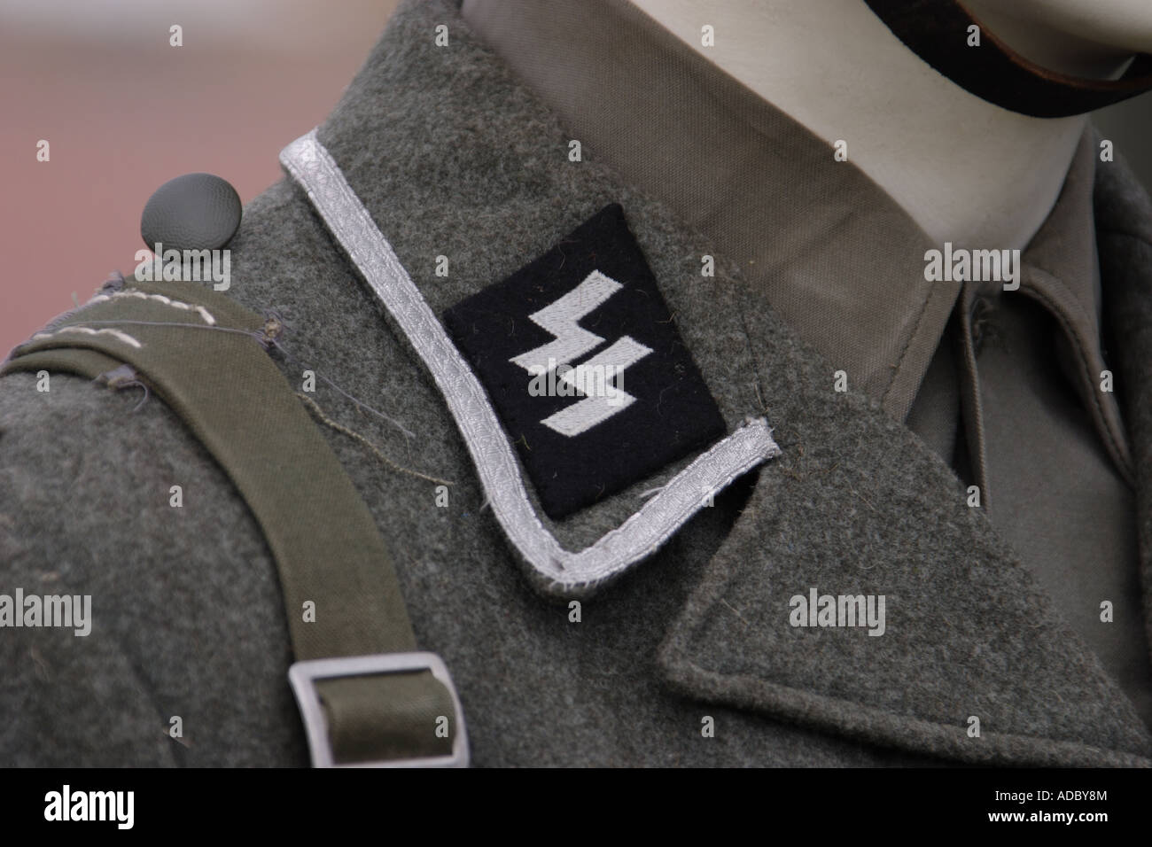 Collar patch from an SS uniform - Stock Image