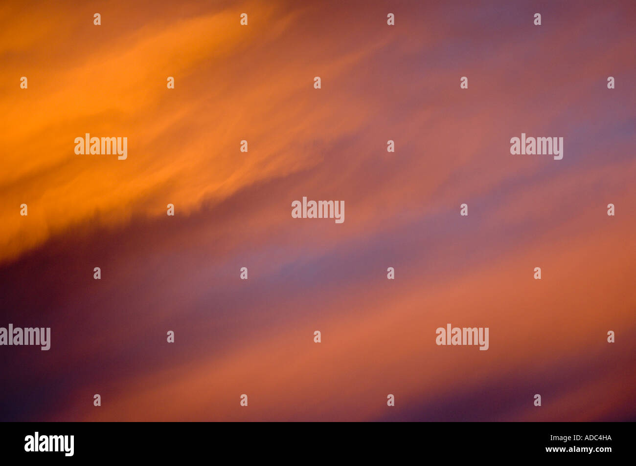 Red Patagonic Sky - Stock Image