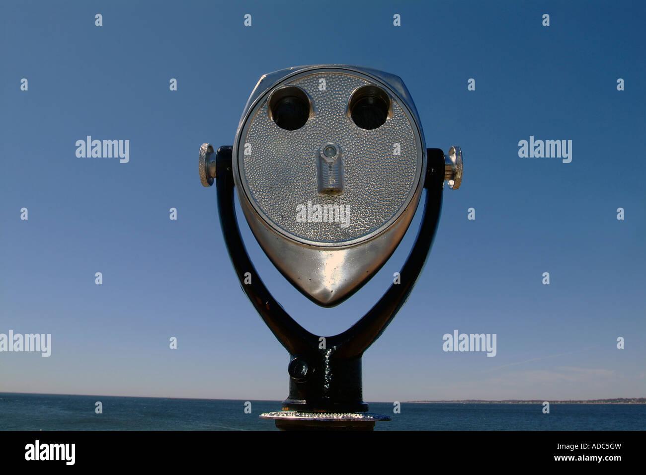 Coin Operated Binoculars - Stock Image