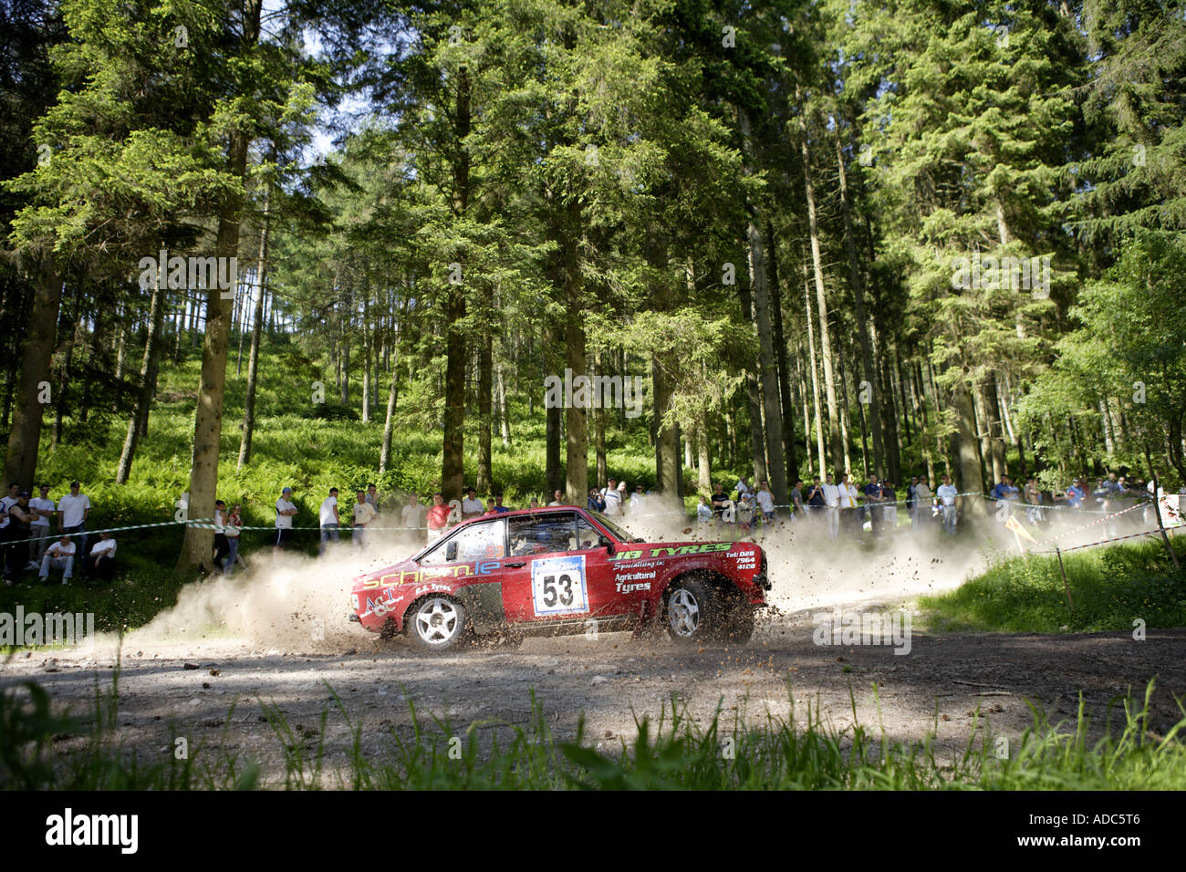 RSAC Scottish Rally Ae Forest - Stock Image
