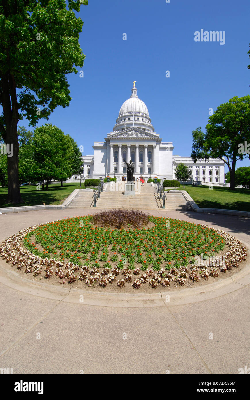 The State Capitol Building at Madison Wisconsin WI - Stock Image