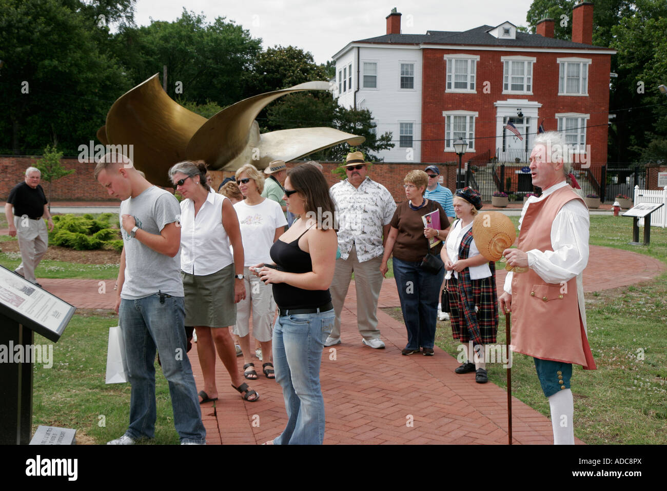 Virginia, VA, South, Tidewater Area, Portsmouth, Olde Towne Trolley Tour, Gosport Park, history, Colonel William Stock Photo