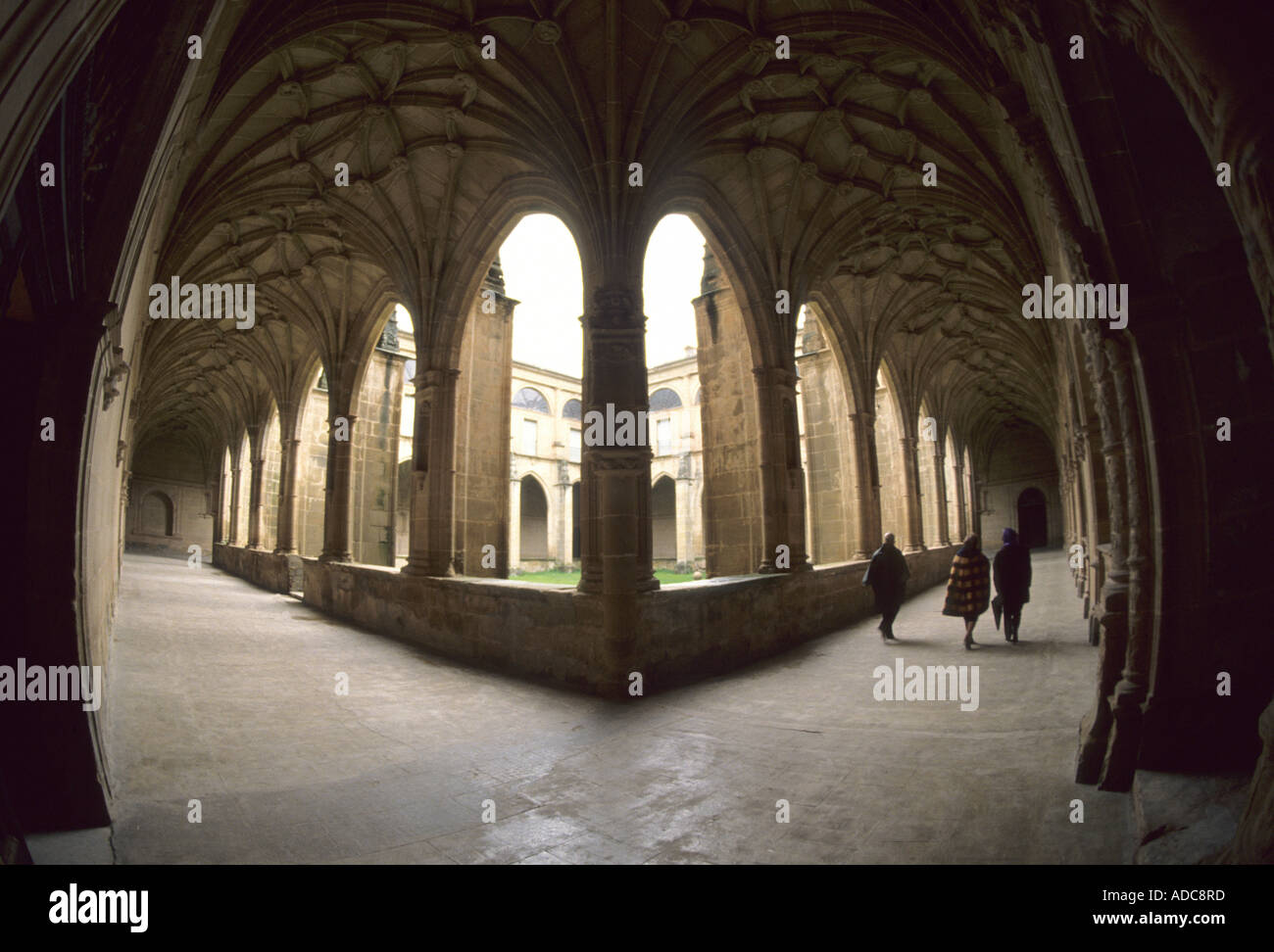 Suso monastery. In this place, first documents in spanish language (castillian) La Rioja, Spain Stock Photo