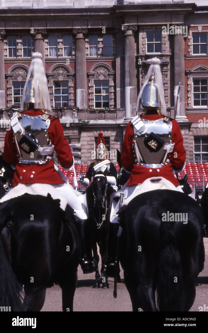Life Guards Troopers, Changing the Guard, Horseguards Parade, London Stock Photo
