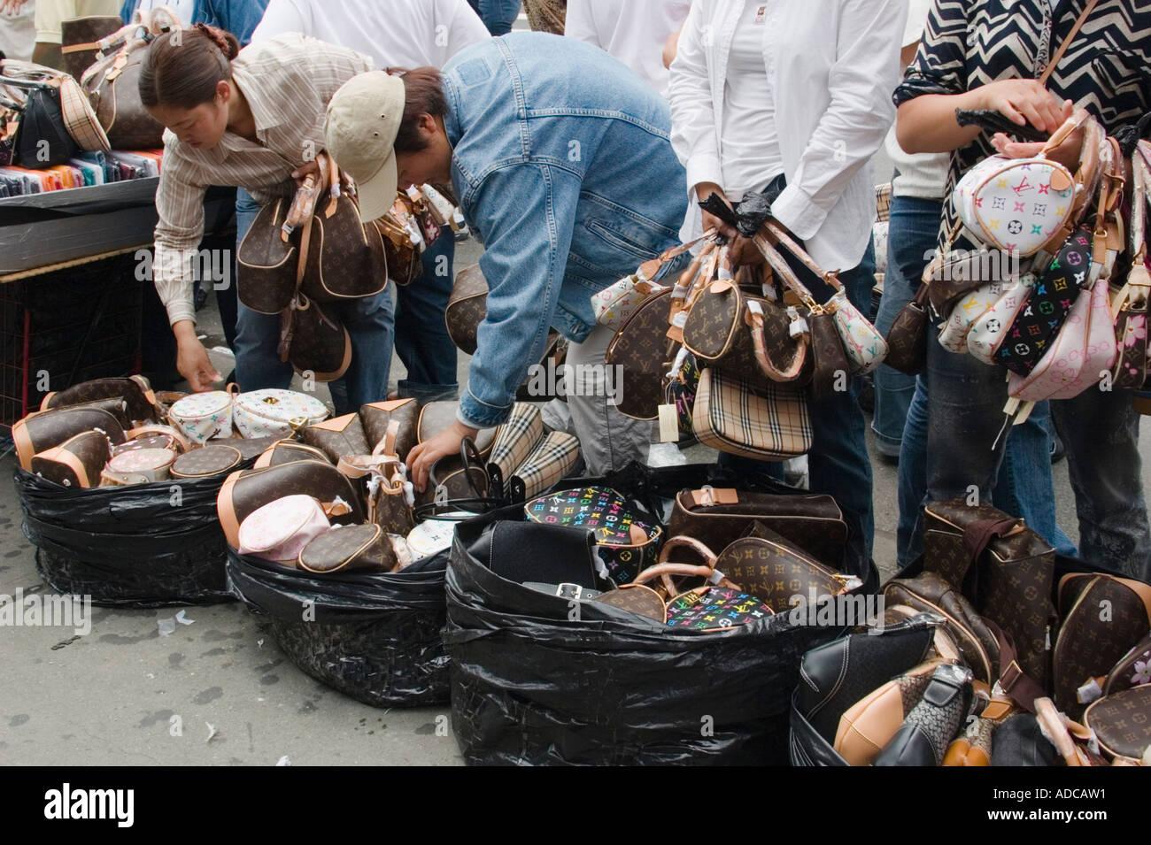 d5569f29d8b9 Handbag vendors selling knockoff handbags on Canal Street Lower Manhattan  New York City New York USA