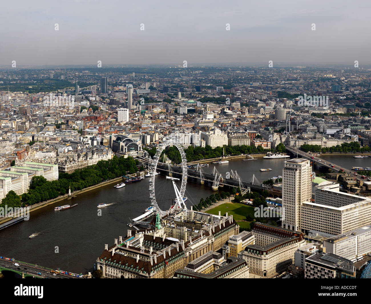 London Aerial Shot Stock Photo