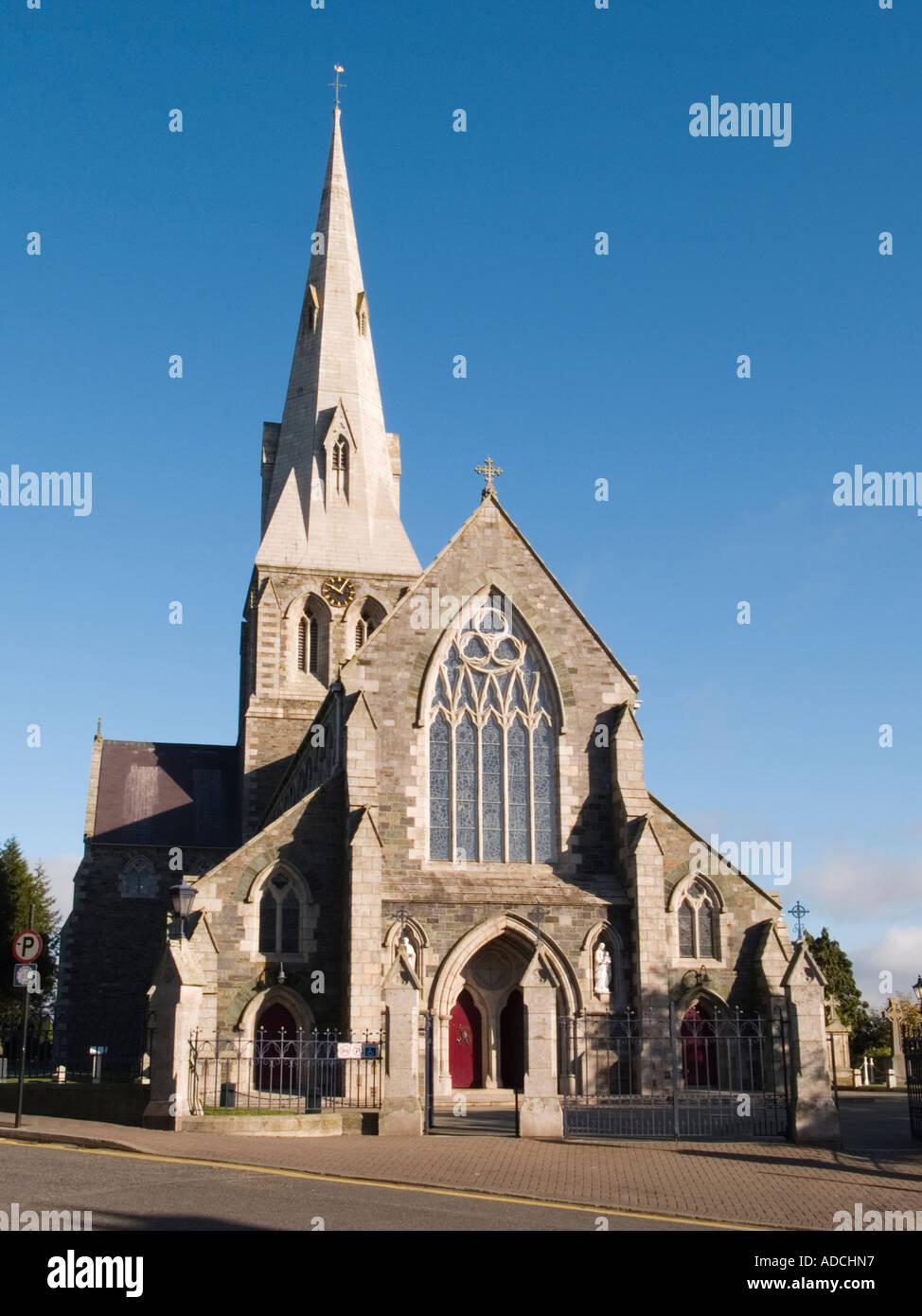 ST AIDAN'S CATHEDRAL CHURCH 1843 Built by A W N Pugin. Enniscorthy 'Co Wexford' Eire - Stock Image