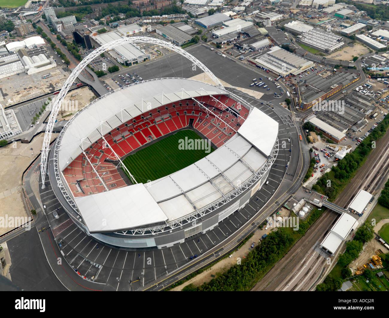 Aerial shot of Wembley Stadium, London - Stock Image