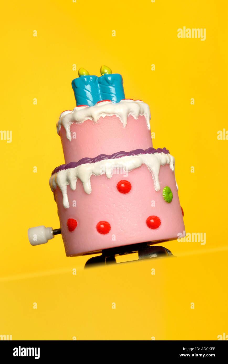 birthday cake Geburtstagskuchen - Stock Image