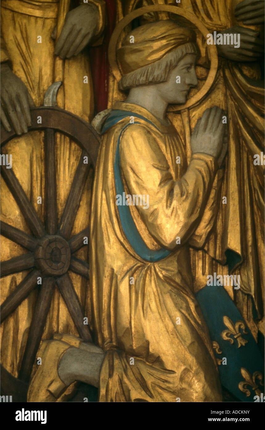 St Martin Of Tours Church Epsom  St Mary Magdalene & St Joan Of Arc - Stock Image