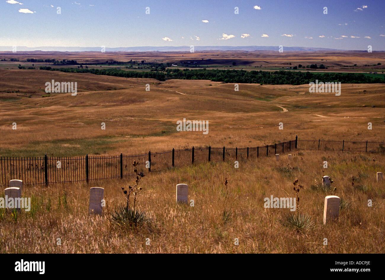 Little Bighorn Battlefield - Stock Image