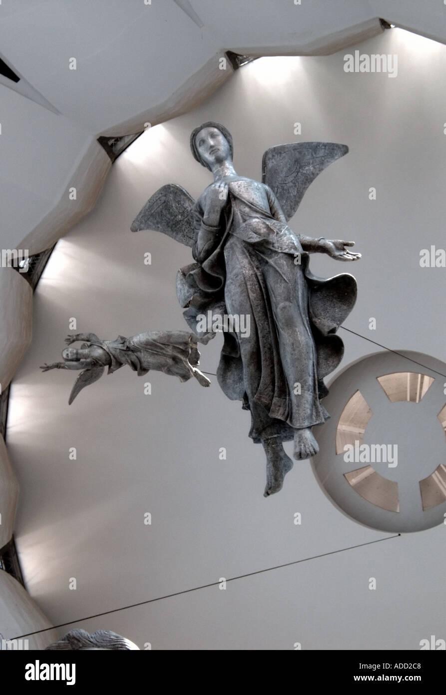 The Angels Descending by Alfredo Ceschiatti in Brasilias Metropolitan Cathedral Stock Photo