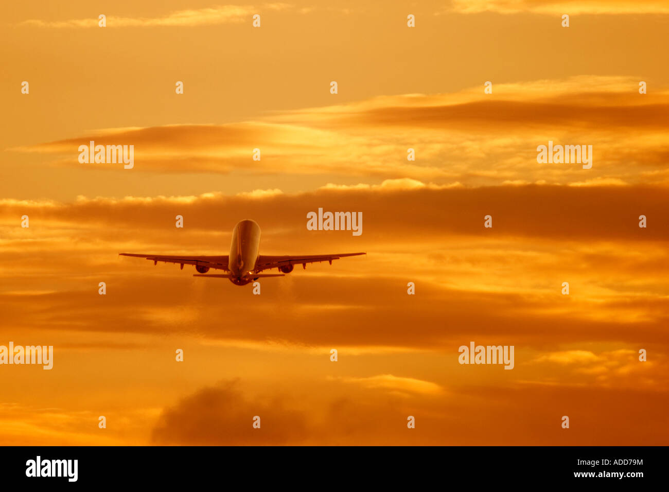 Commercial aviation plane - Stock Image