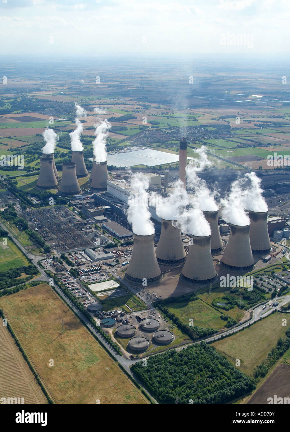 Drax Coal Fired Power Station, North Yorkshire, Northern England, summer 2007 Stock Photo