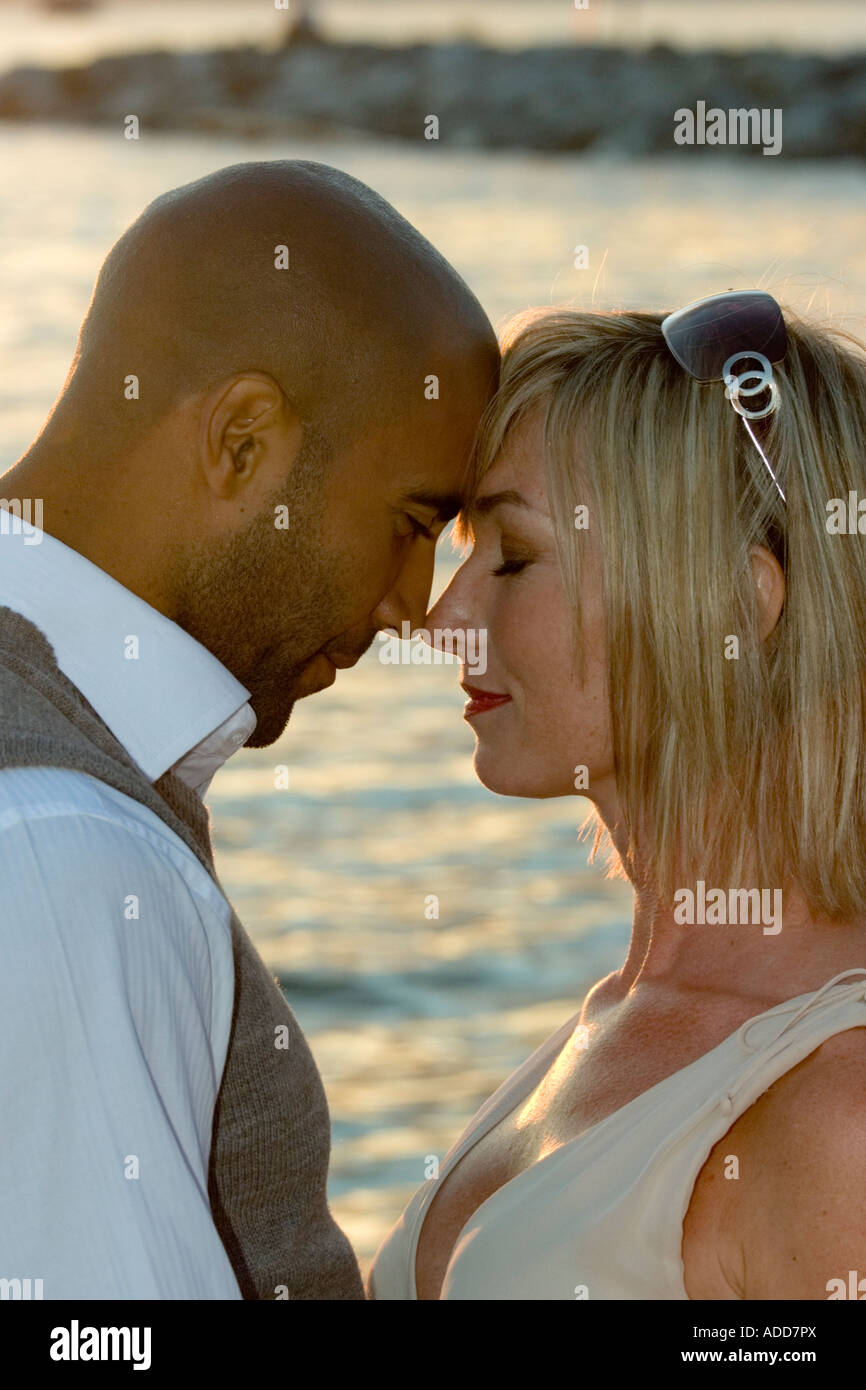 Interracial love story photo