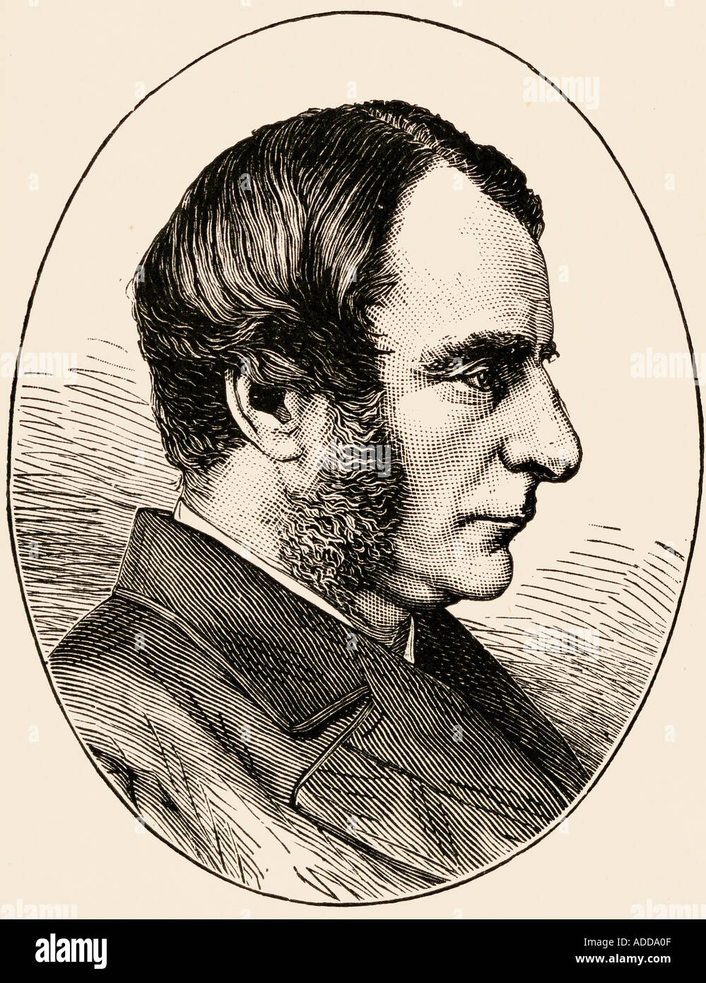 Charles Kingsley, 1819 -1875. Church of England priest, university professor, social reformer, historian and novelist. - Stock Image