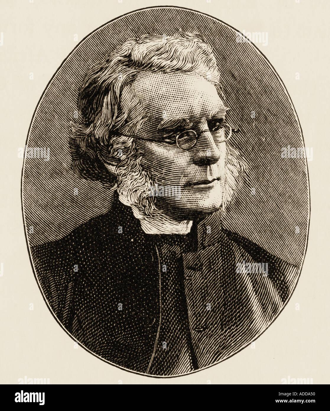 John William Colenso, 1814 -1893. British mathematician, theologian, Biblical scholar, social activist, the first Church of England Bishop of Natal. - Stock Image
