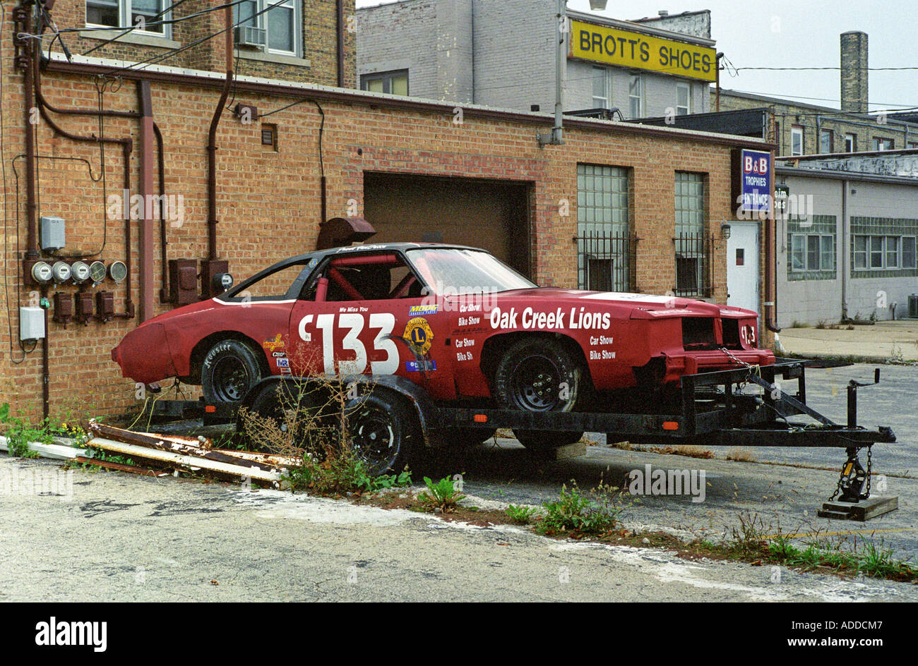 number 133 old race car in alley with rust Stock Photo: 7648838 - Alamy