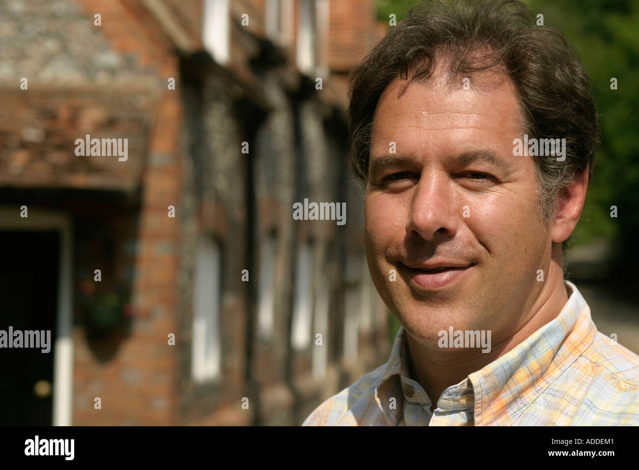 Hambleden:  Henry Smith, 48,  heir to Viscount Hambleden, in one of Hambleden village's streets. He is a decendent of W H Smith. - Stock Image
