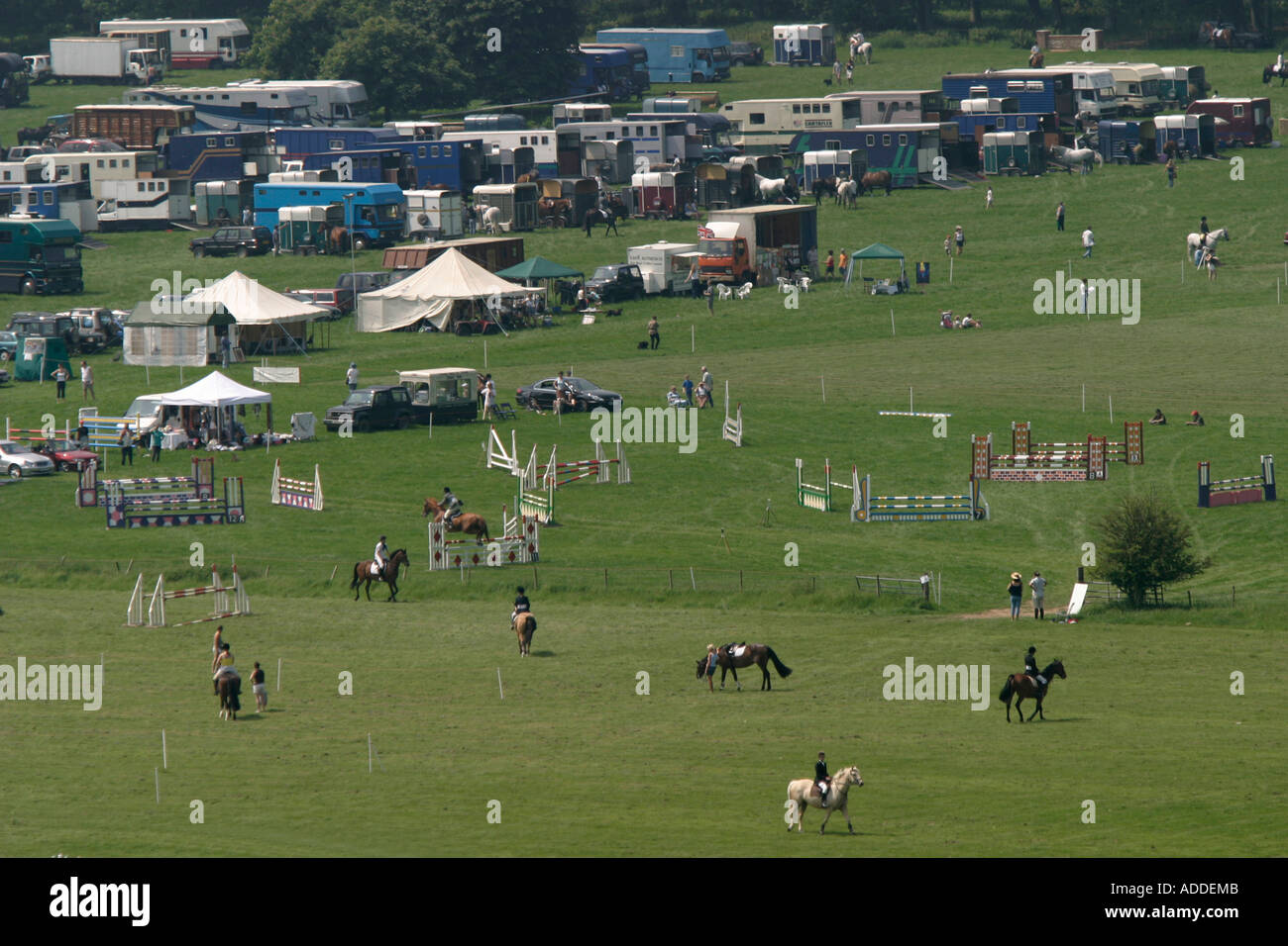 The South Oxfordshire Riding Clubs Open Show takes place on the Hambleden estate. - Stock Image