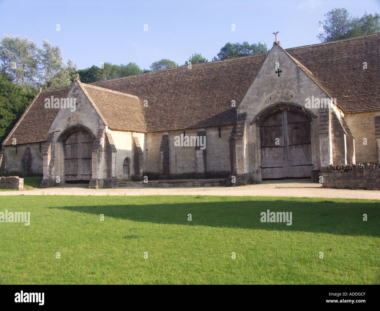 Fourteenth century tithe barn Bradford on Avon Wiltshire England - Stock Image