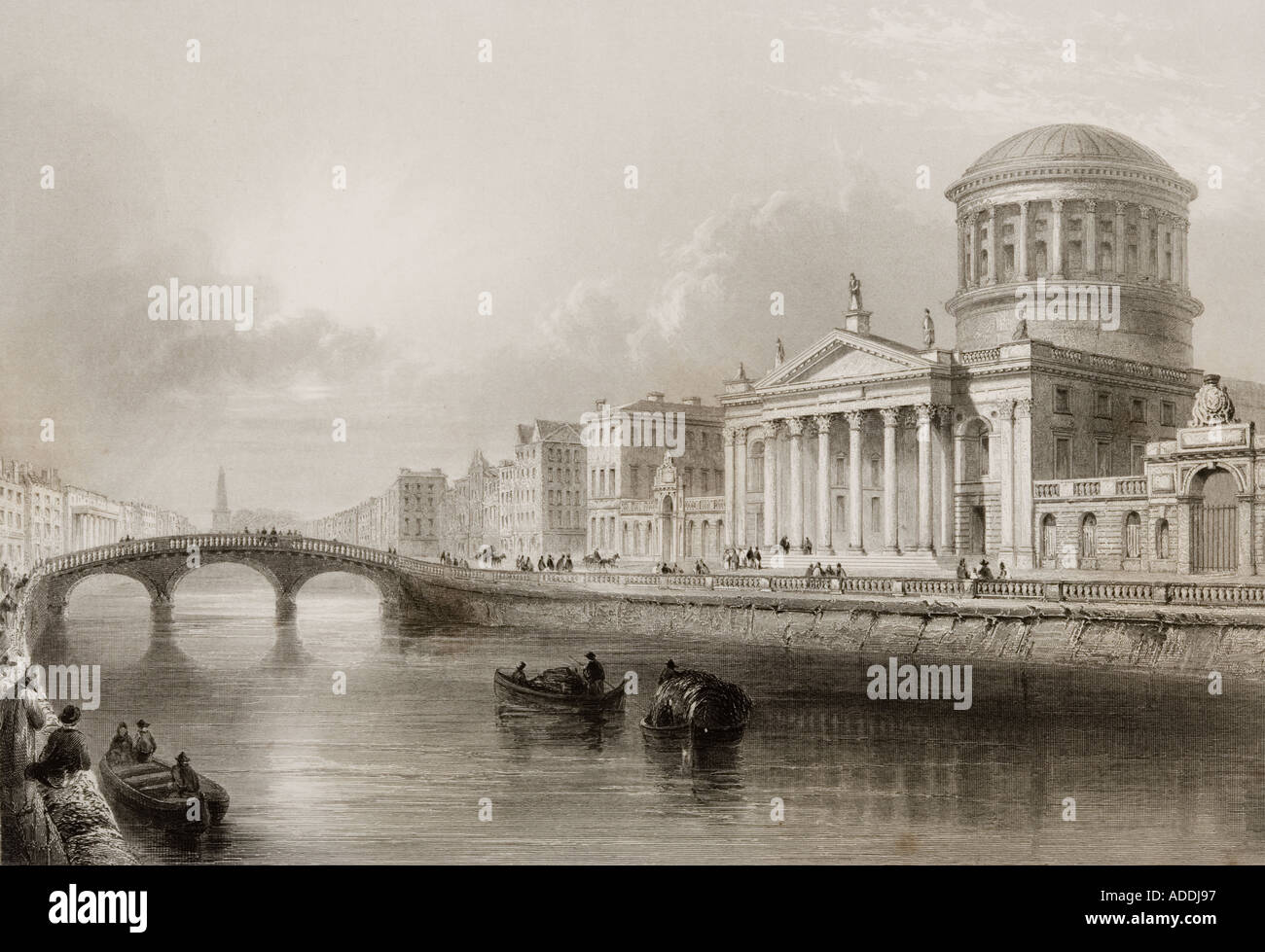 The Four Courts Dublin Ireland - Stock Image