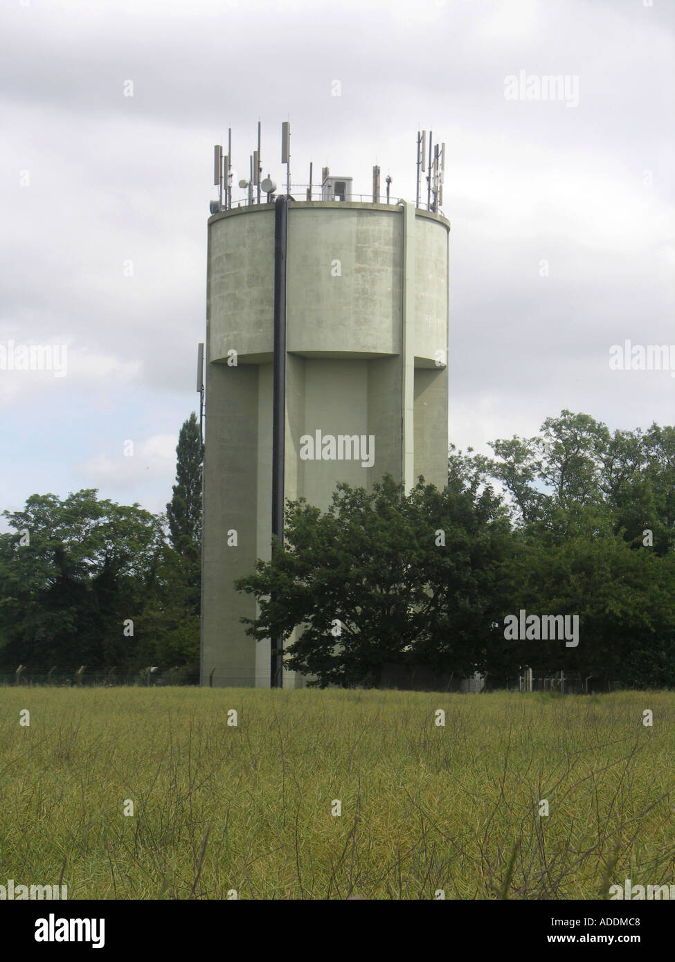 Concrete water tower Pettistree Suffolk England - Stock Image & England Ian Murray East Anglia Water Tower Storage Stock Photos ...
