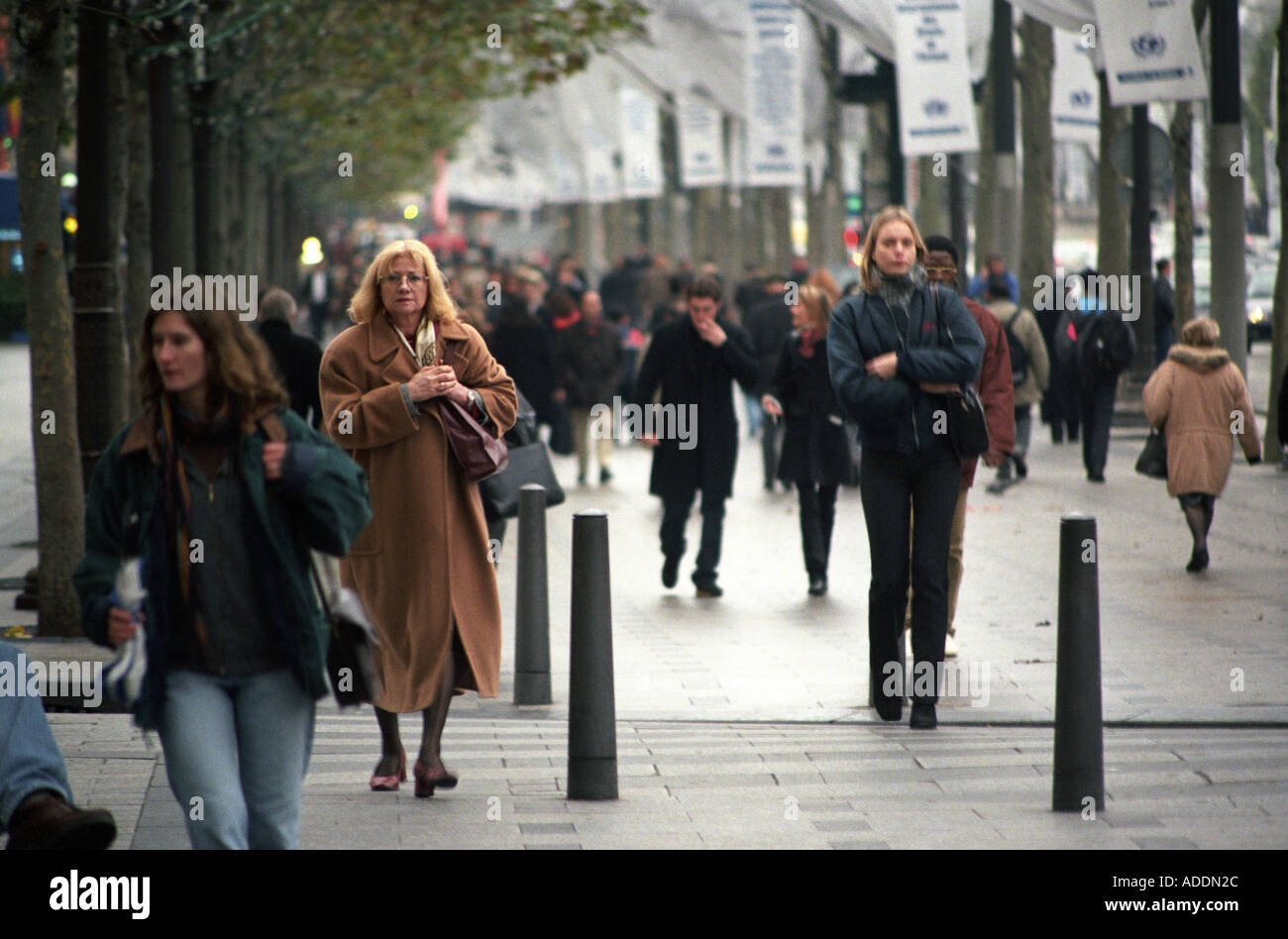 Ladies on the Champs Elysées in Paris France - Stock Image
