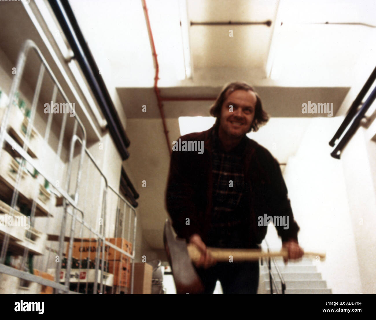 THE SHINING 1980 film starring Jack Nicholson - Stock Image