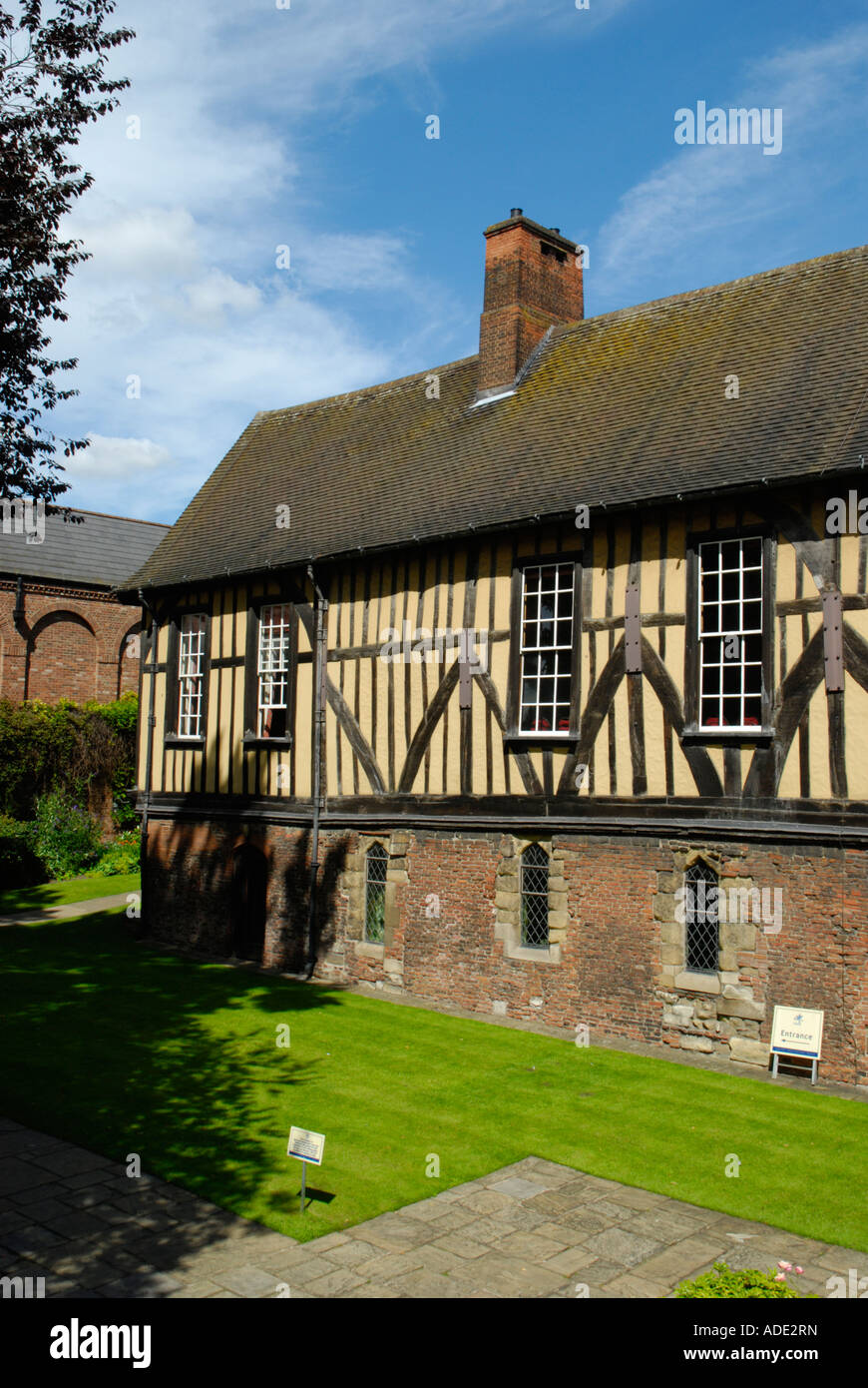 Exterior of the Merchant Adventurers Hall Fossgate York North Yorkshire England - Stock Image