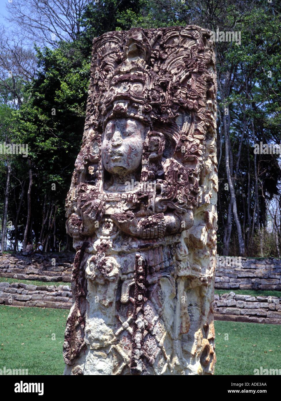 Mayan Site Copan Honduras - Stock Image